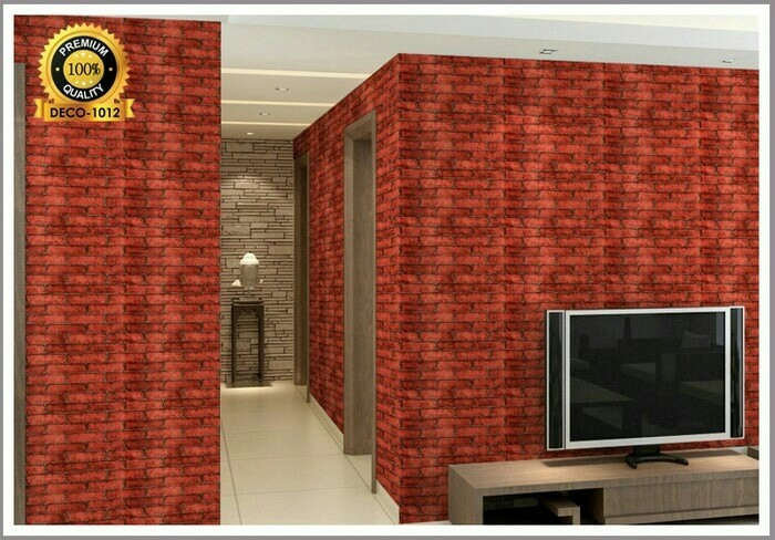 Jual Wallpaper Sticker Dinding Batu Bata Merah Jakarta Utara