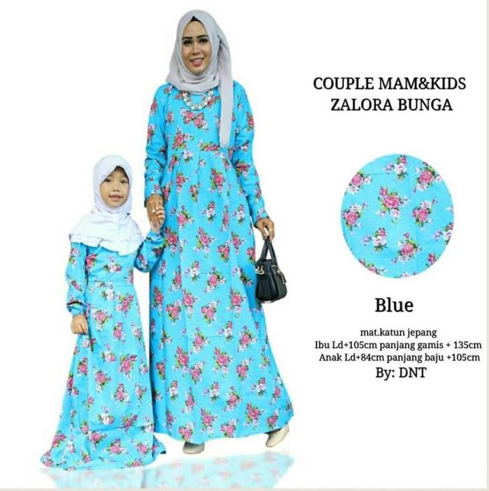 Jual Couple Gamis Baju Pesta Pasangan Seragam Mom Kids Zalora Blue