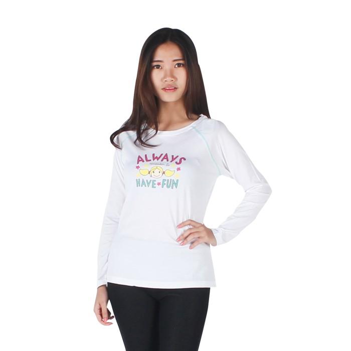 harga Surfer girl - kaos casual lengan panjang putih - 8pini Tokopedia.com