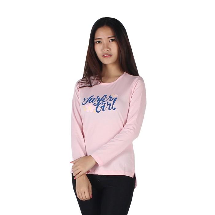 harga Surfer girl - kaos casual lengan panjang pink - 8rashid Tokopedia.com