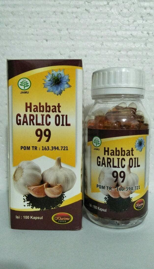 HABBAT GARLIC OIL 99 isi 100 Kapsul KHARISMA FOOD