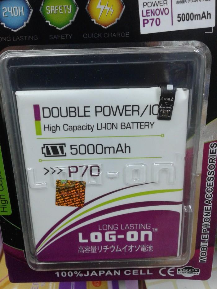 Baterai Log on Lenovo P70 Double Power 5000mah