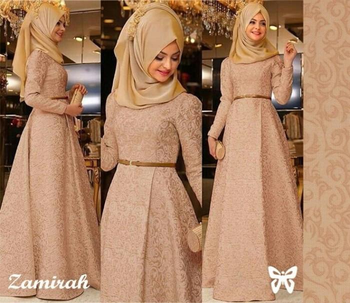 Jual Zamirah Hijab Busana Muslim Pesta Terbaru Best Seller Gamis