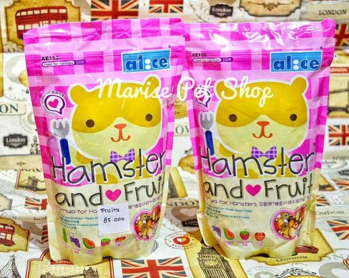 harga Makanan hamster/campuran buah kering sehat ( alice hamster and fruit ) Tokopedia.com
