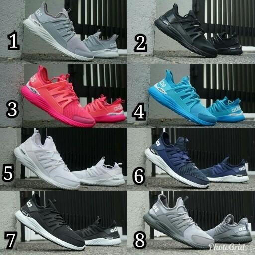 sepatu casual running adidas alphabounce tubular cewek cowok Unisex - Putih, 39