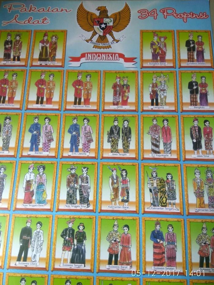 Jual Poster Pakaian Adat 34 Propinsi Jakarta Selatan Rayhans Collection Tokopedia