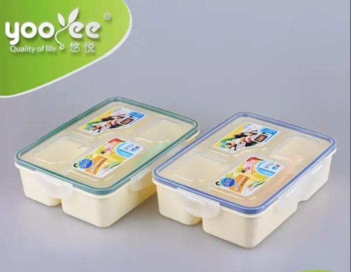 Kotak makan bekal lunch box yooyee 319 bpa free 4 sekat