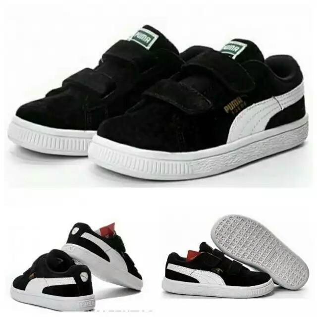 harga Sepatu anak puma suede hitam putih kids unisex laki laki perempuan Tokopedia.com