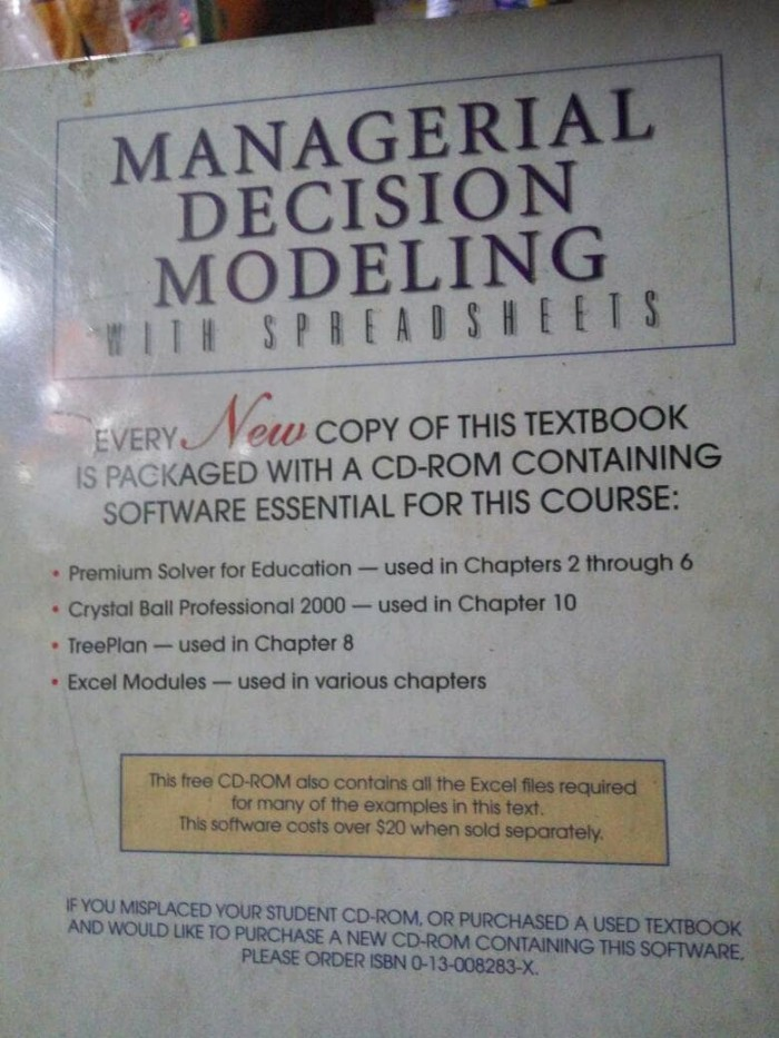 Managerial Decision Modeling With Spreadsheets 2nd Edition Pdf