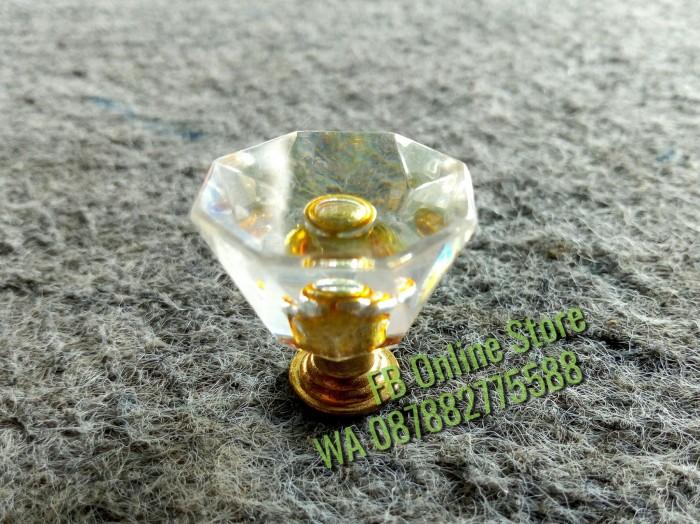 harga Handle Knob   Tarikan Pentol Crystal Kecil Rata Kristal Lemari Laci  Tokopedia.com 78f5af2a2b