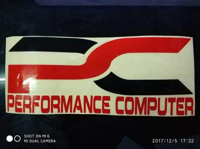 Custom 1 cutting stiker ukuran 5x7 cm reflective sticker