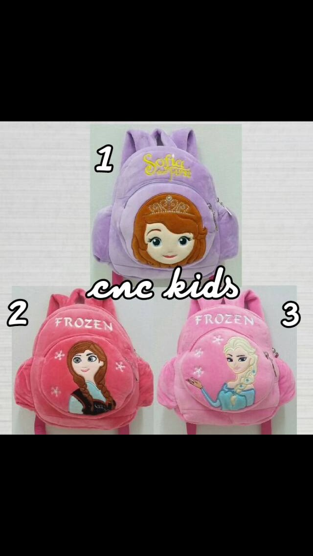 Tas ransel punggung boneka anak karakter sofia frozen ec542f5dd2