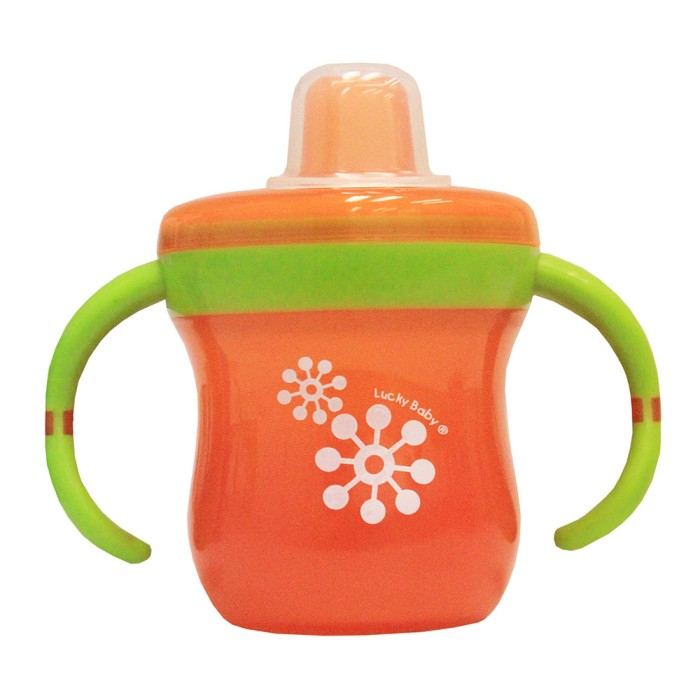 Jual Lucky Baby Spout Cup With Handle – Snipee – Orange- Lb 0022 Harga Promo Terbaru