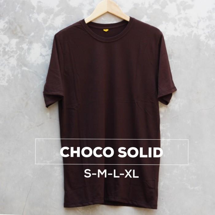 harga Baju kaos polos oblong bandung coklat solid cewek cowok pria wanita Tokopedia.com