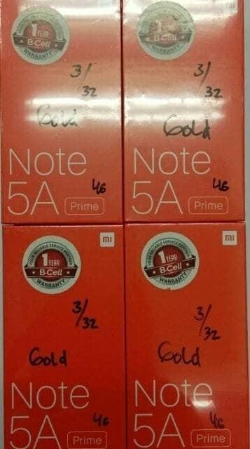 harga Hp xiomi note 5a (xiaomi mi 5 a ram 3/32gb) - gold / emas Tokopedia.com