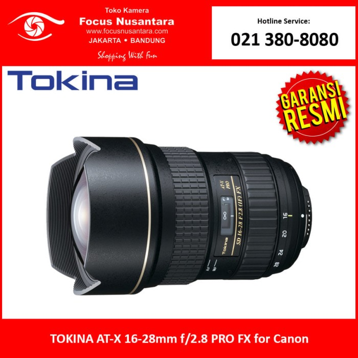 harga Tokina at-x 16-28mm f/2.8 pro fx for canon Tokopedia.com