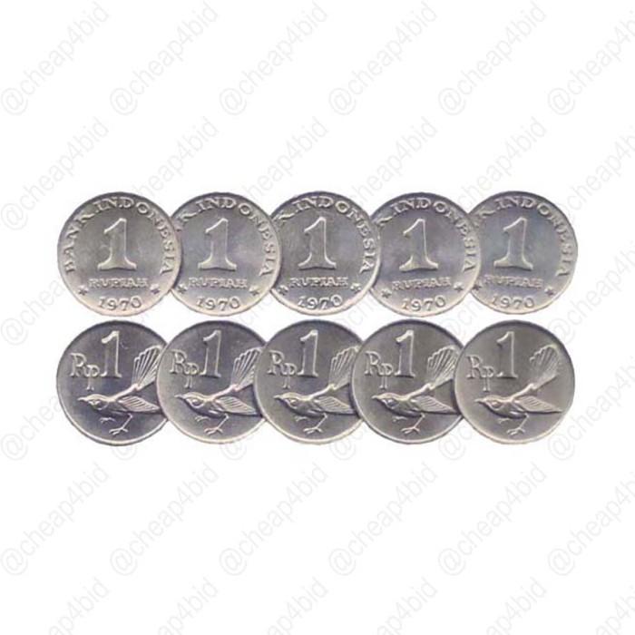 harga 10 Keping Uang Koin Kuno 1 Rupiah 1970 'burung', Km20 Tokopedia.com