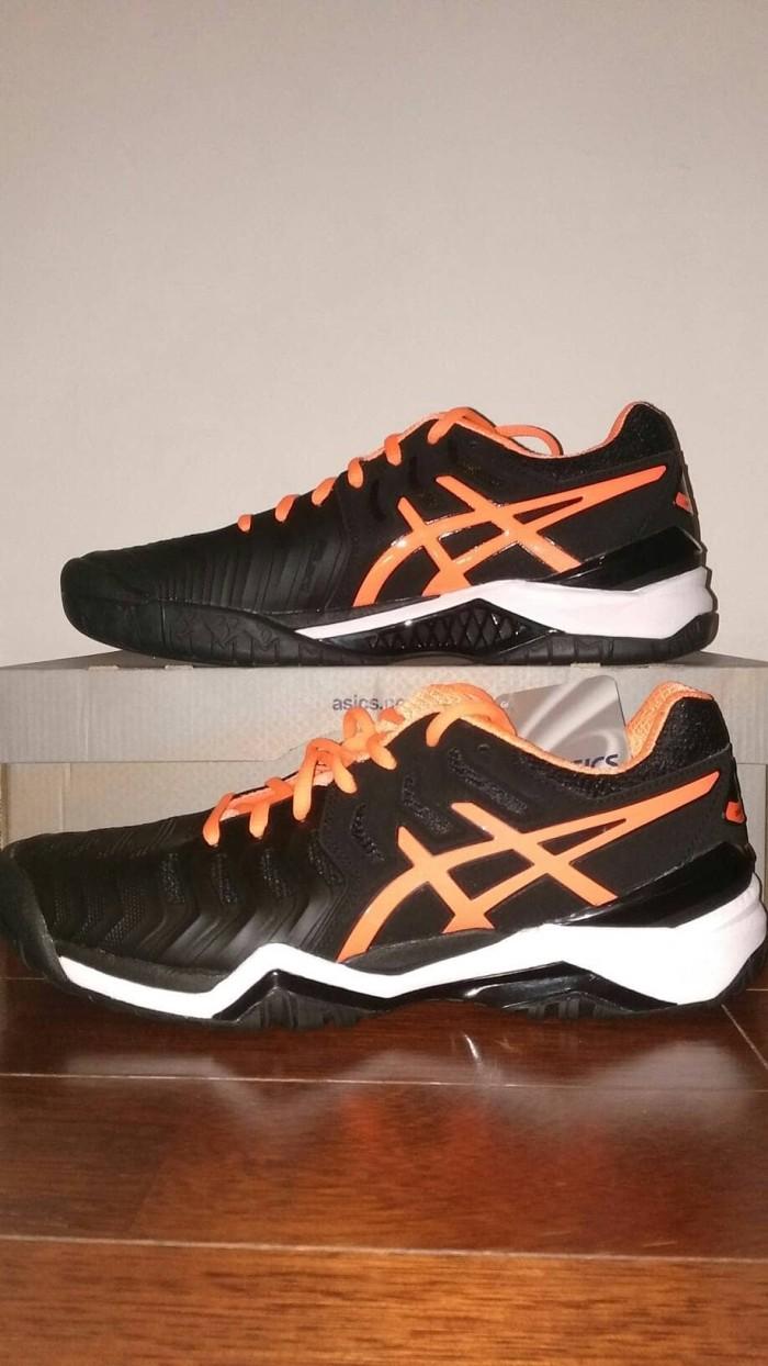 Jual Murah Asics Gel Resolution 7 Black Orange Sepatu Tenis Tennis ... 423d45931d