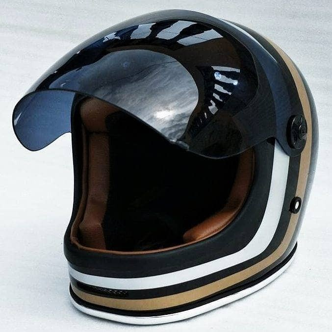 Bell Bullitt helm custom. helm jadul. helm classic retro 1