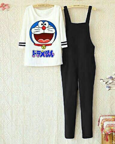Jumpsuit doraemon smile lgn stripe set harga Jumpsuit doraemon smile lgn  stripe set Tokopedia.com bb5e723661