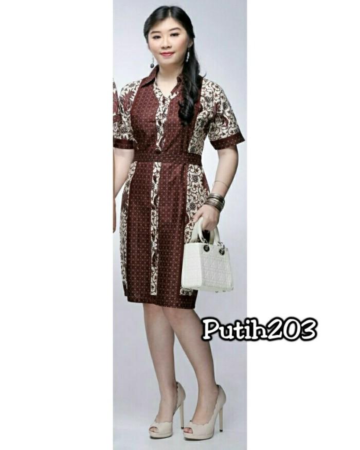 harga Batik 203 dress/gaun seragam melati katun Tokopedia.com