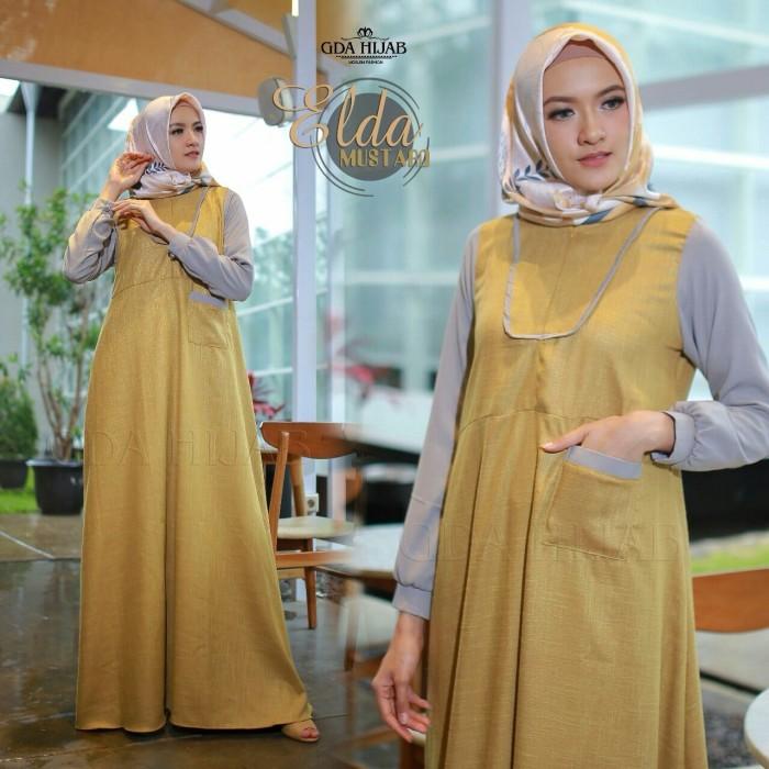 Jual Elda By Gda Hijab Gamis Dress Hijabers Branded Cantik Modis