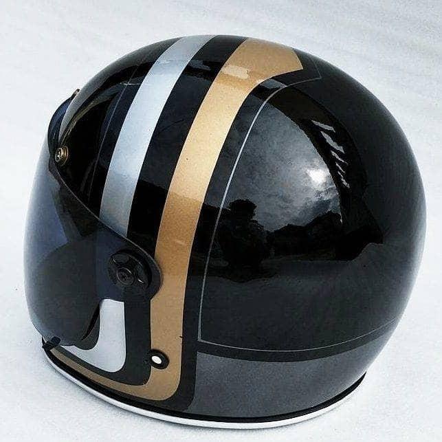 Bell Bullitt helm custom. helm jadul. helm classic retro 2