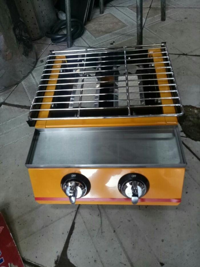 Kompor gas panggangan 2 tungku etk 111 tanpa asap/ bakaran sosis sate