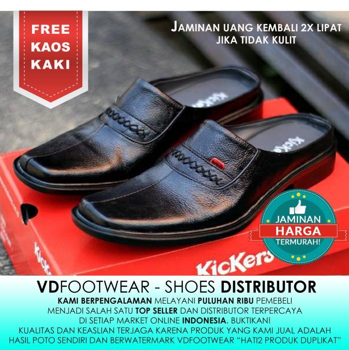 harga Sepatu pantofel pria casual kickers kulit model slip on bustong slop Tokopedia.com