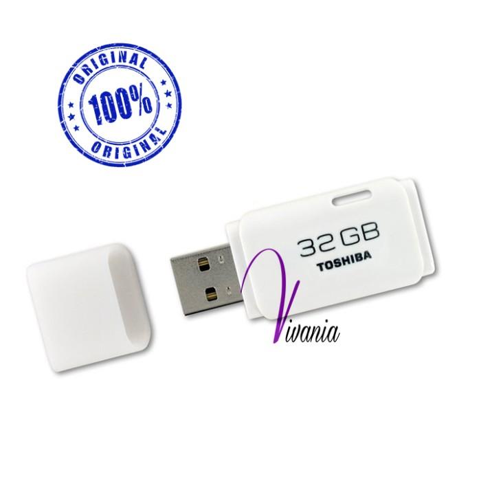 Toshiba usb flashdisk / fd hayabusa 32gb putih original ...