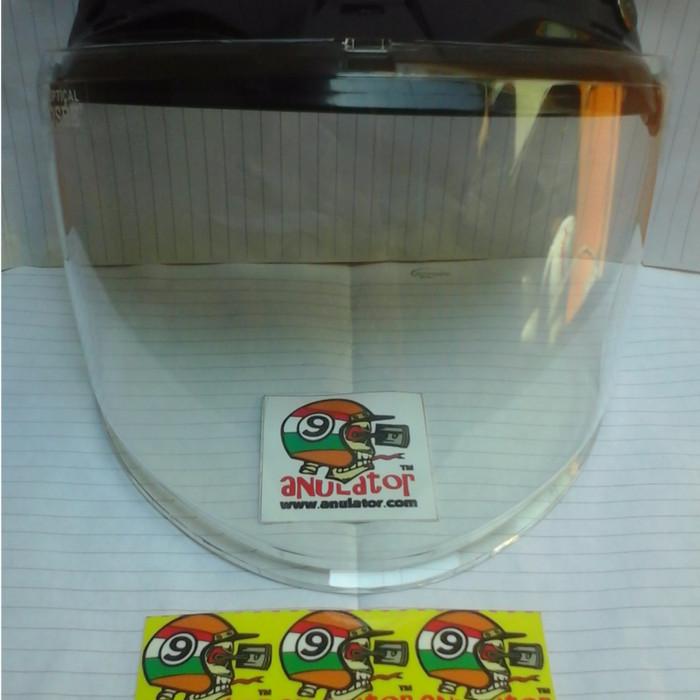 Kaca helm visor mika osbe  datar flat rata retro classic warna bening