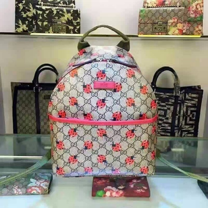 9281975fde2 Harga Limited Edition Backpack Ransel Gucci Bugs Ori Leather High ...