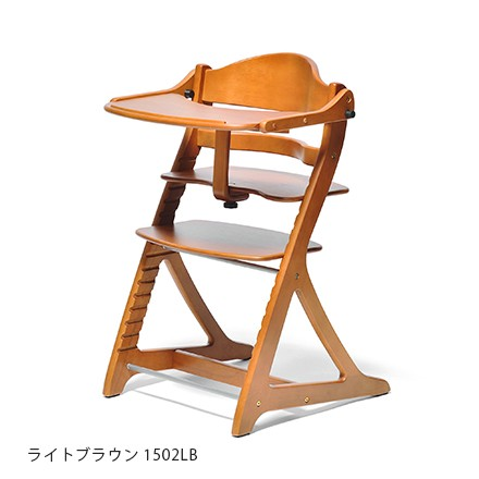 Yamatoya sukusuku plus table high chair - light brown