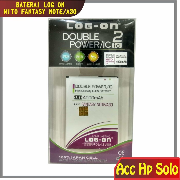 Baterai batere batre mito fantasy note a30 ba-00082 log on