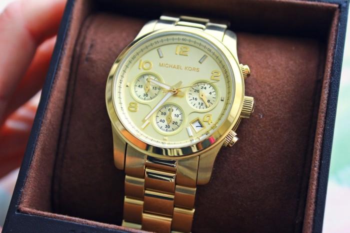 4c9aa9e91094 Jual Michael Kors Midsized Chronograph Gold Tone Womens Watch MK5055 ...