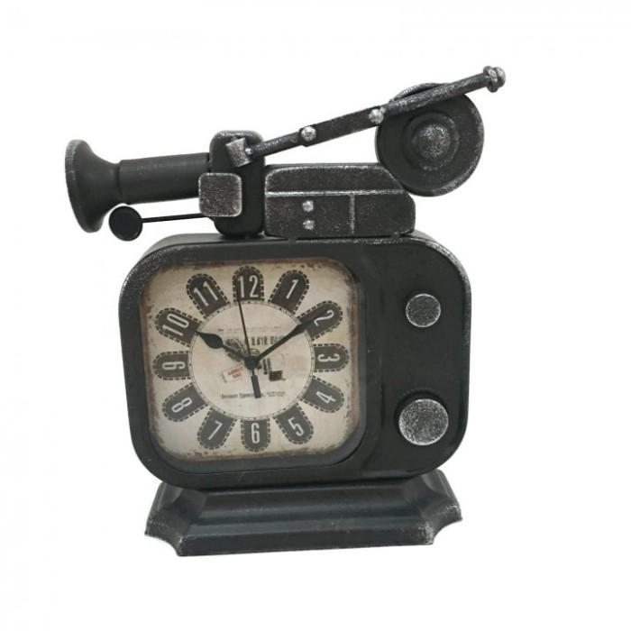 Jam Meja-Vintage Retro Old TV Radio Shape Iron Metal Table Clock 5f9b47bee5