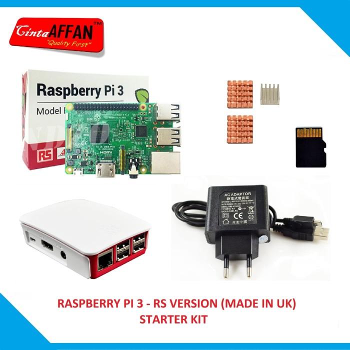 harga Raspberry Pi 3 (made In Uk) + Official Case, Adaptor Heat Sink Sd Card Tokopedia.com
