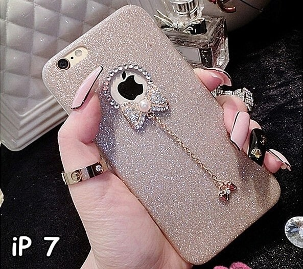 harga Softcase cute luxury crystal bling glitter shine bow casing iphone 7 Tokopedia.com