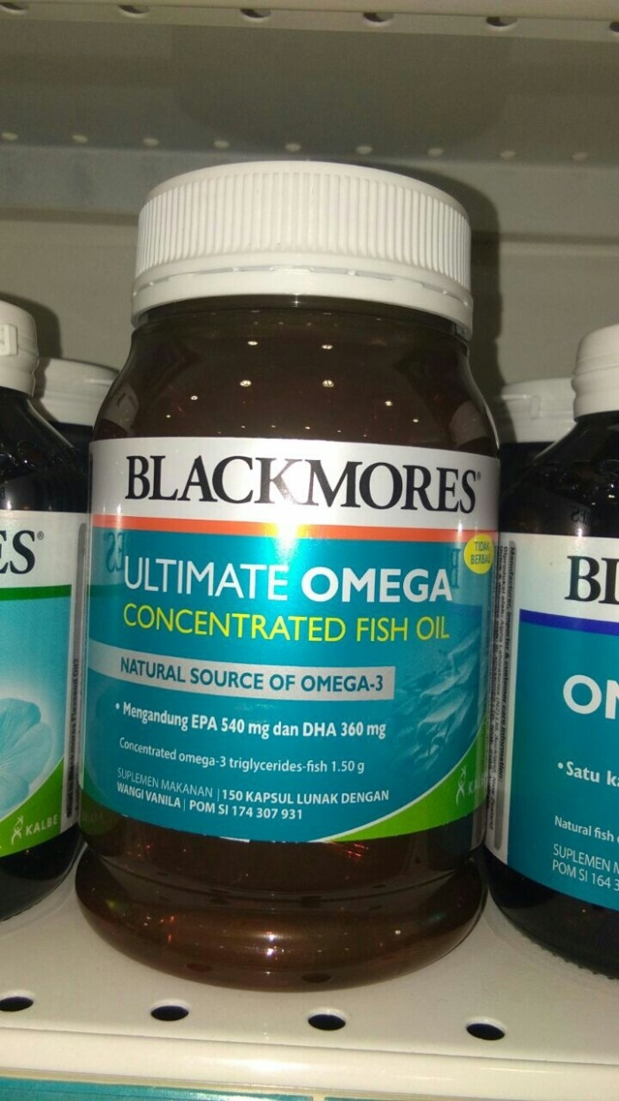 blackmores ultimate omega--150 softgel--bpom kalbe