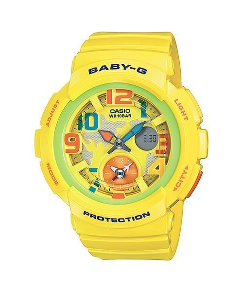 Jual Jam Tangan Casio Baby-G Wanita Analog Digital Kuning Bga-190-9bdr Harga Promo Terbaru