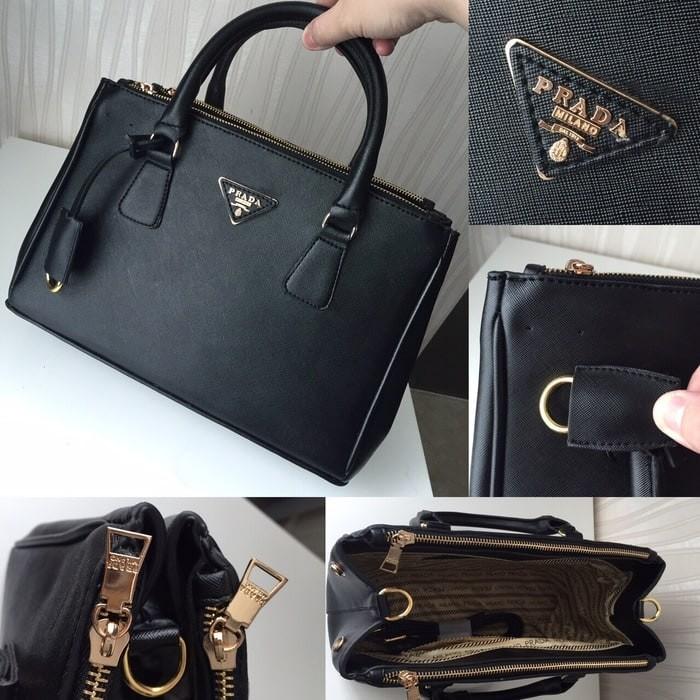0b410fe69c7b Jual Harga murah Tas Wanita Prada Saffiano Premium Quality Black ...