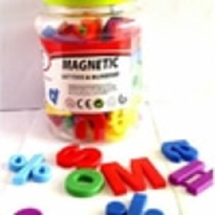 (Sale) MAINAN ANAK MAGNETIC LETTERS AND NUMBERS ISI 80 PCS
