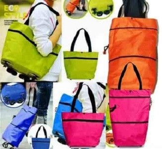 Jual TAS TROLLEY TROLEY LIPAT UNIK TROLI FOLDABLE BAG Roda Travel ... 2a4fc8e220