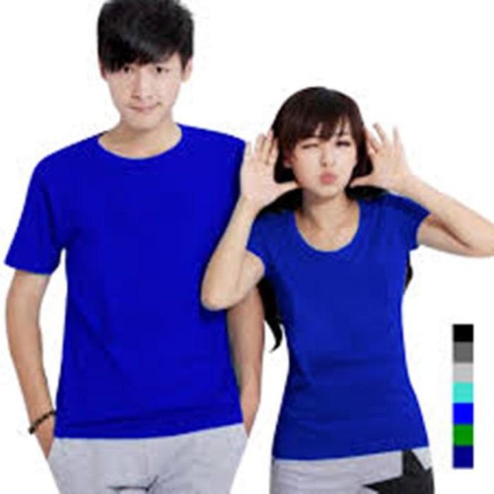 Foto Produk kaos couple biru benhur lengan pendek baju pasangan polos dari Grosir Baju Couple :)
