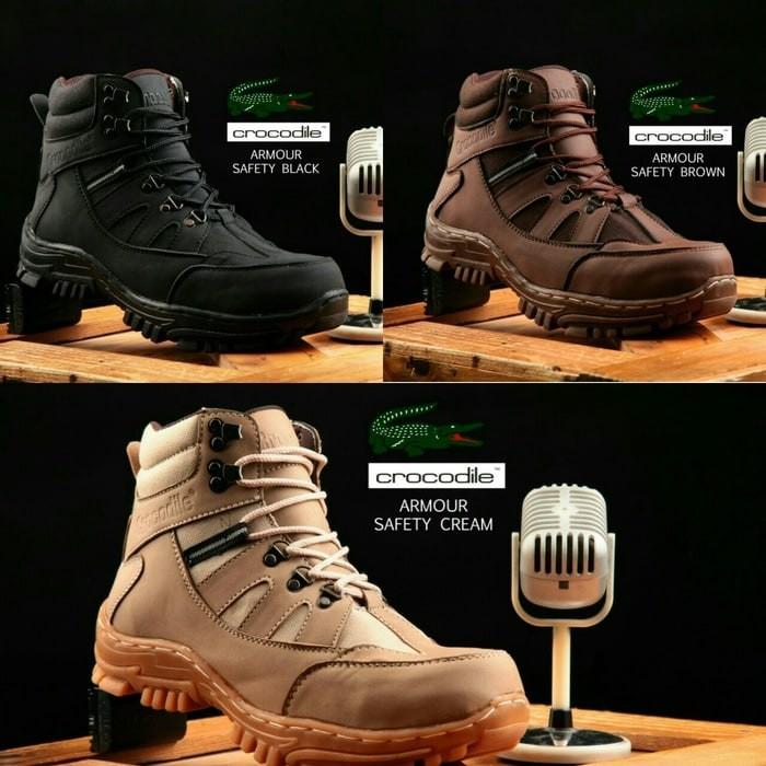 harga Sepatu pria boots crocodile armour magnum safety original handmade Tokopedia.com