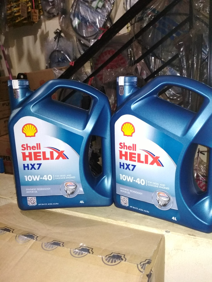 Harga Oli Shell Helix Hx 7 Sae 10w 40 Galon 4 Liter Original Rp 289500