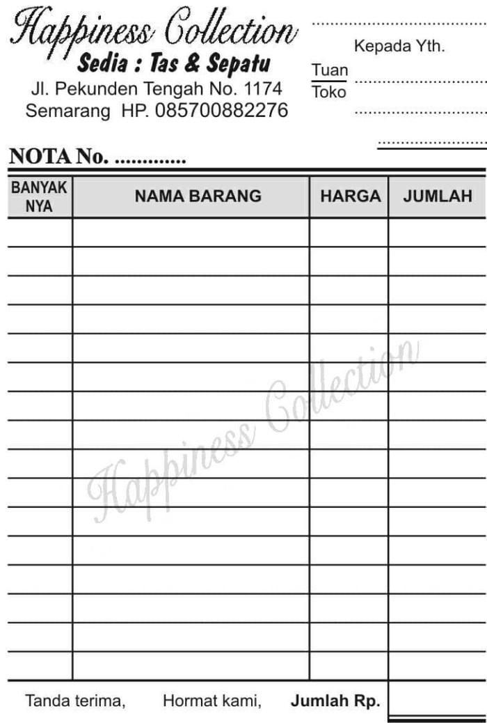 Jual Cetak Nota Posindonesia Cek Harga Di Priceareacom
