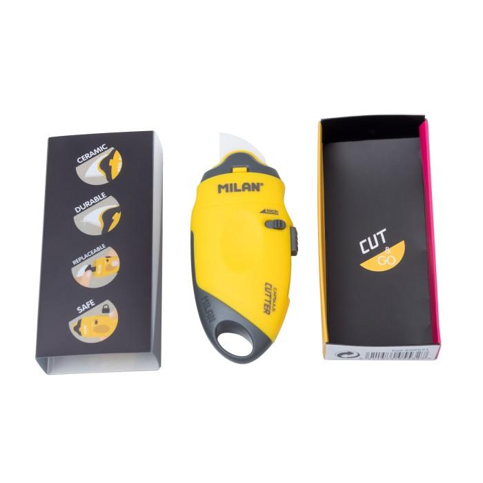 Jual Milan Cutter Capsule Ceramic Blade #60051 Yellow Harga Promo Terbaru
