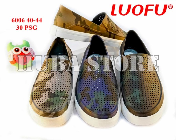 harga Sepatu pria slop jelly sepatu cowok karet import 6006 Tokopedia.com