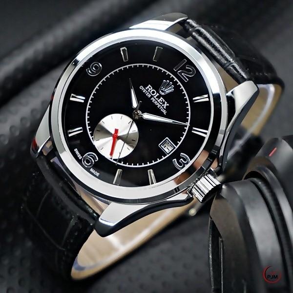 Jual Jam Tangan Pria Rolex Retro Kulit Big Second Bawah Automatic ... 3025fe4f92